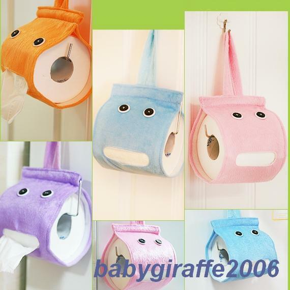Funky Funny Wall Hanging Plush Toilet Roll Tissue Holder