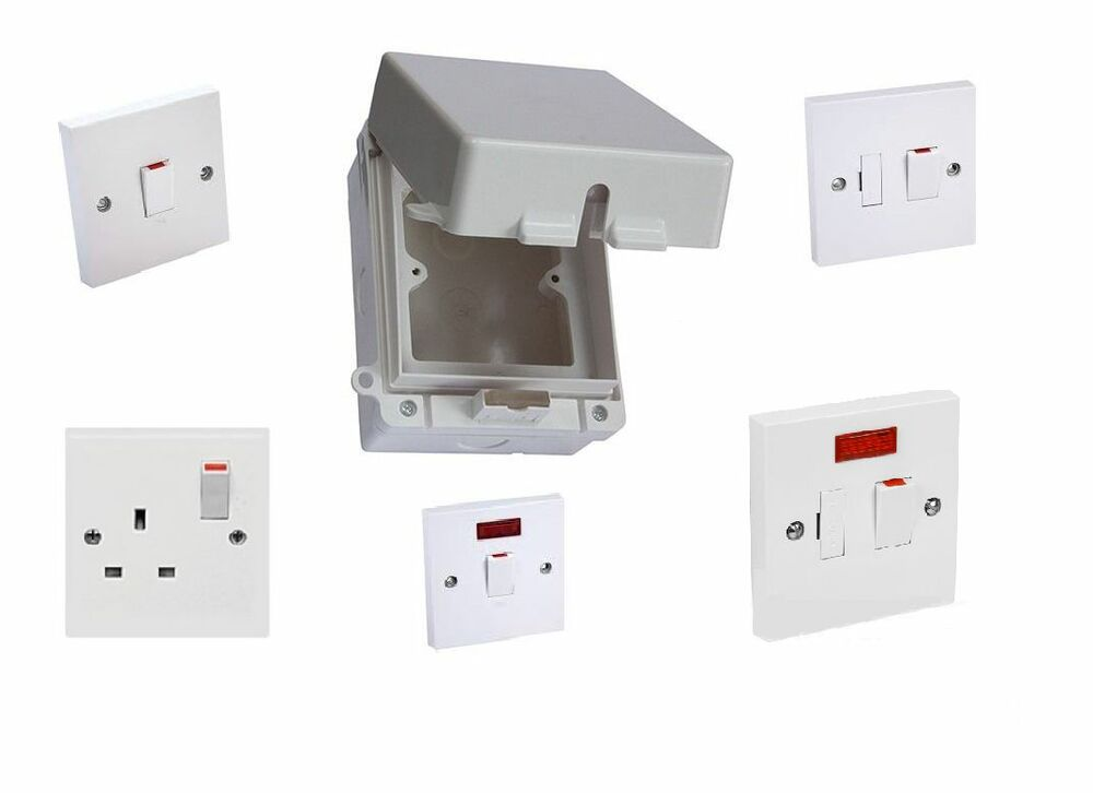 New 1 Gang Ip65 Weatherproof Switch Enclosure C  W Switch
