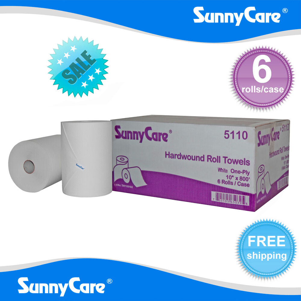 "Paper Towel Rolls For Hamsters: SunnyCare® #5110 White 10"" Touchless Paper Towel Rolls 800"