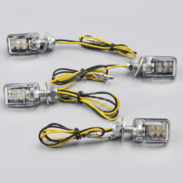 4x 6 led 12v motorcycle mini dirt bike turn signal blinker. Black Bedroom Furniture Sets. Home Design Ideas