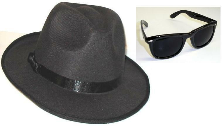 Details about 2 BLUES BROTHERS FEDORA HATS + 2 BLUES BROS WAYFARER  SUNGLASSES Free Shipping 9082af2cb0f