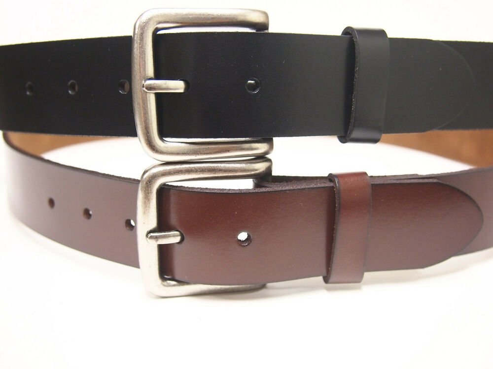 heavy duty solid leather belt genuine leather 100