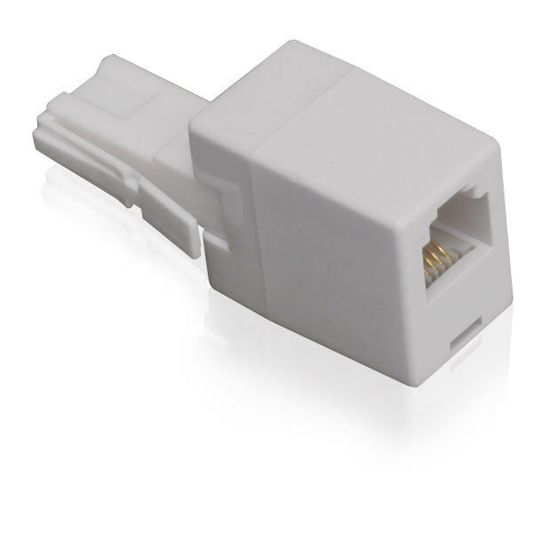 Bt431a to rj11 phone plug adsl adaptor connect adsl cable to telephone line ebay - Cable adsl rj11 ...