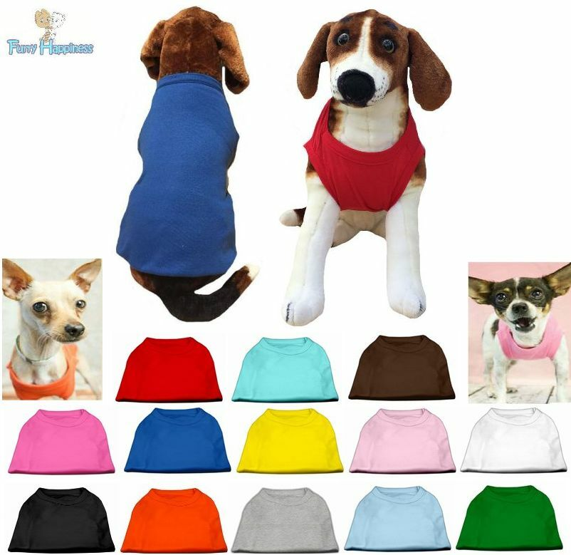 Dog Clothes Plain Blank T Shirt Shirts Tee For Dogs Puppy