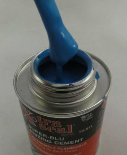 Super Blu Vulcanizing Cement Blue Tire Patch Glue 8oz Can