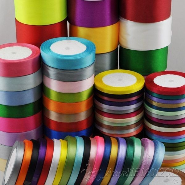 craft ideas with satin ribbon 25yard 1roll mix color size satin ribbon from1 4 quot to 2 6345