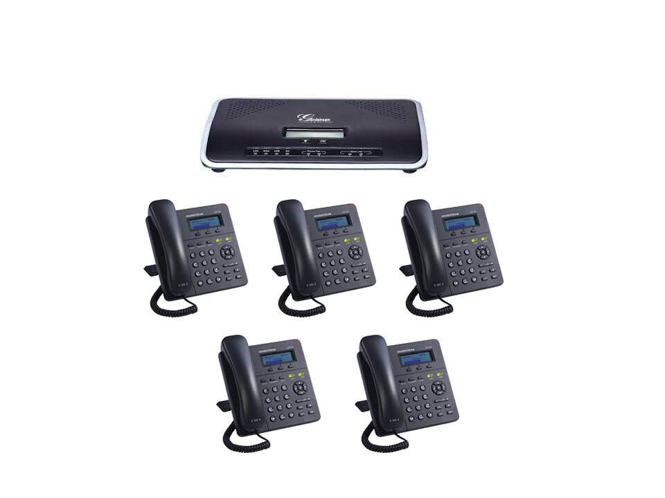Complete New Voip Small Business Pbx W 5 Sip Phone Sets