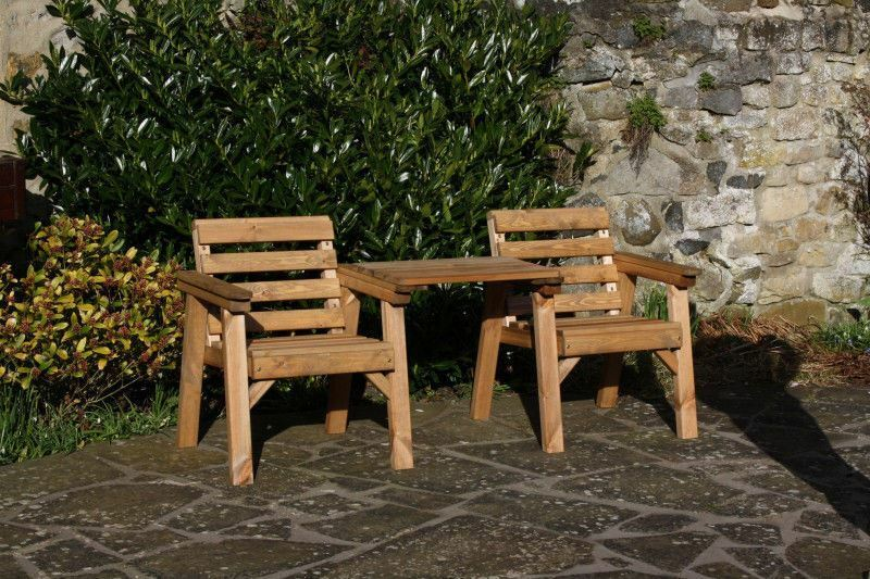 Garden furniture patio set companion seat bench solid for Wooden garden furniture