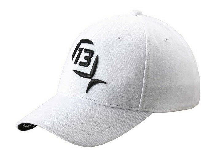 13 fishing the albino hat white w black logo fitted size s for Fitted fishing hats