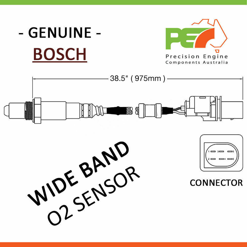 1x new * bosch * lsu 4 9 5 wire wide band oxygen sensor 0258017025