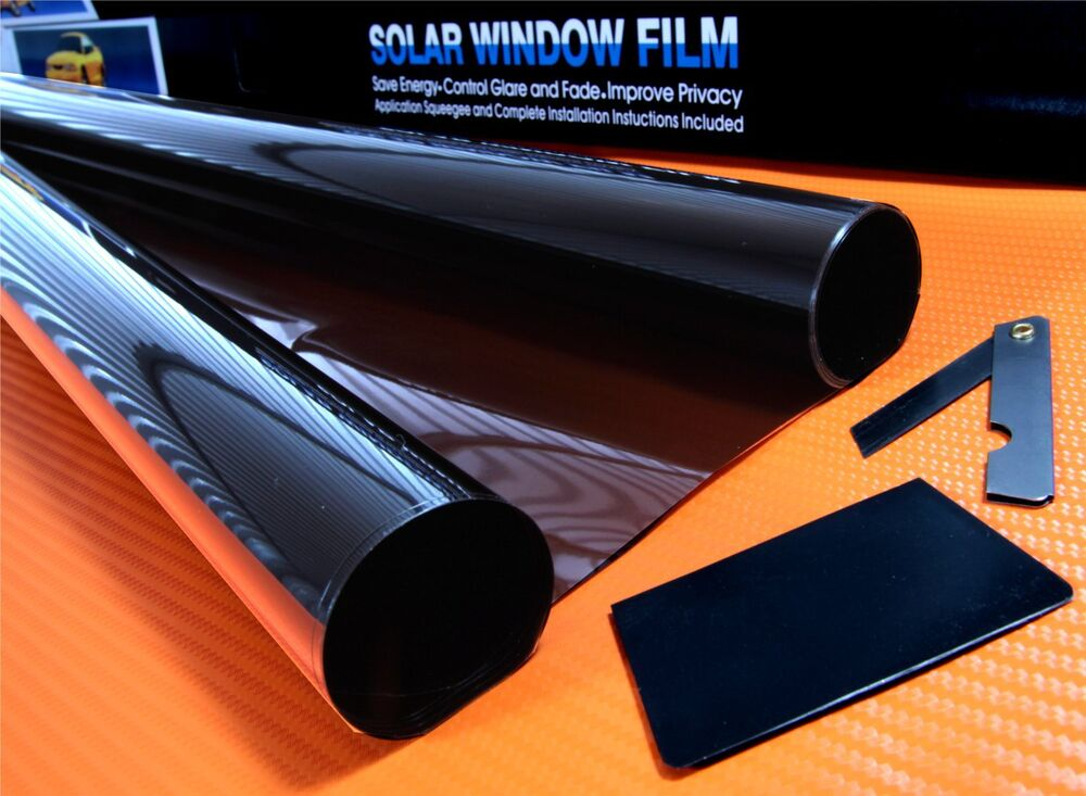 Dark smoke 15 car window tint roll 6m x 76cm film tinting for 2 for 1 window tinting