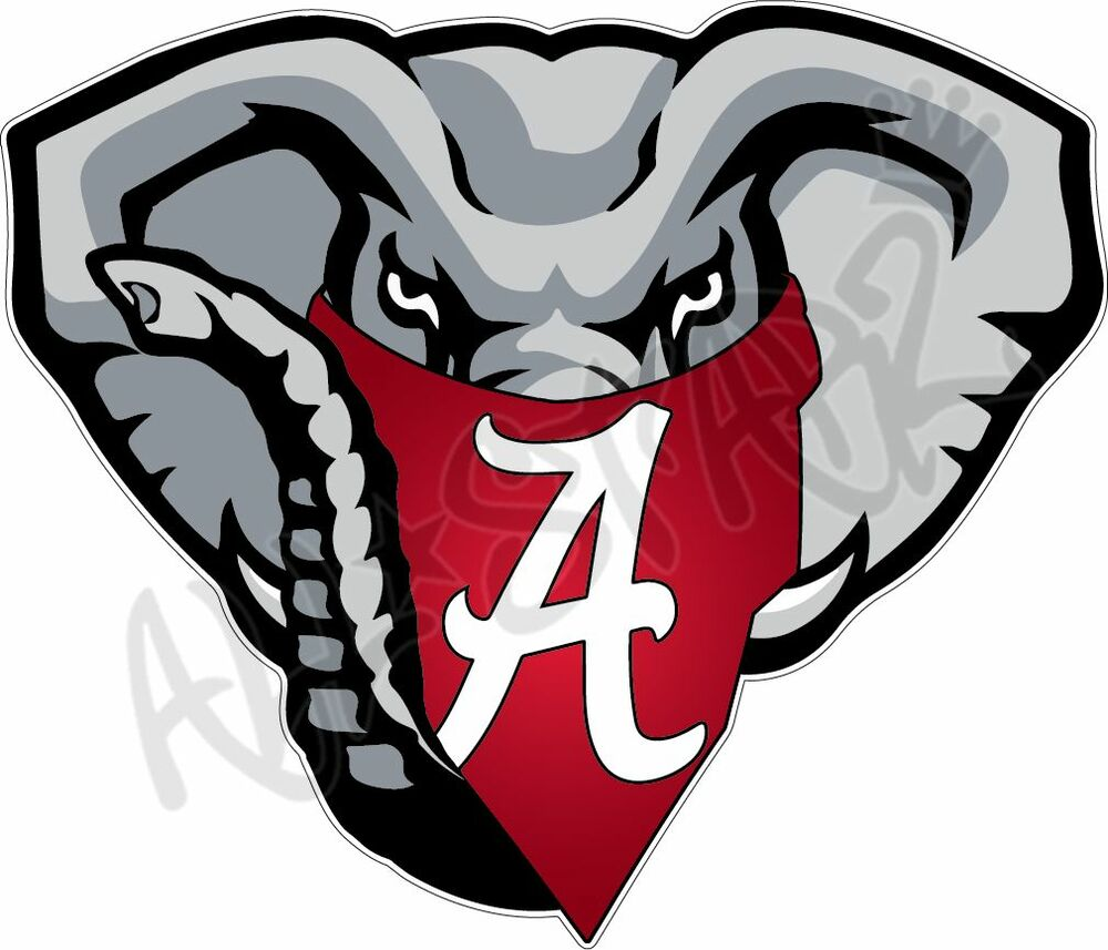 University of alabama crimson tide elephant mascot 12 for Alabama football mural