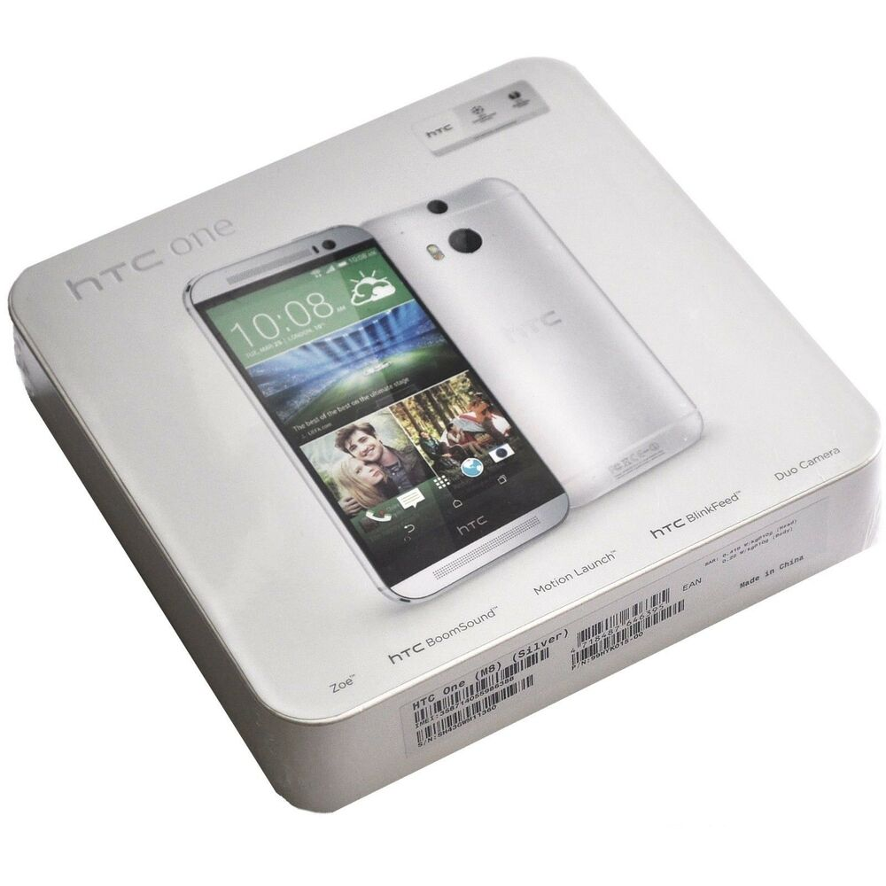 16gb Silvers: NEW HTC ONE M8 16GB GLACIAL SILVER FACTORY UNLOCKED
