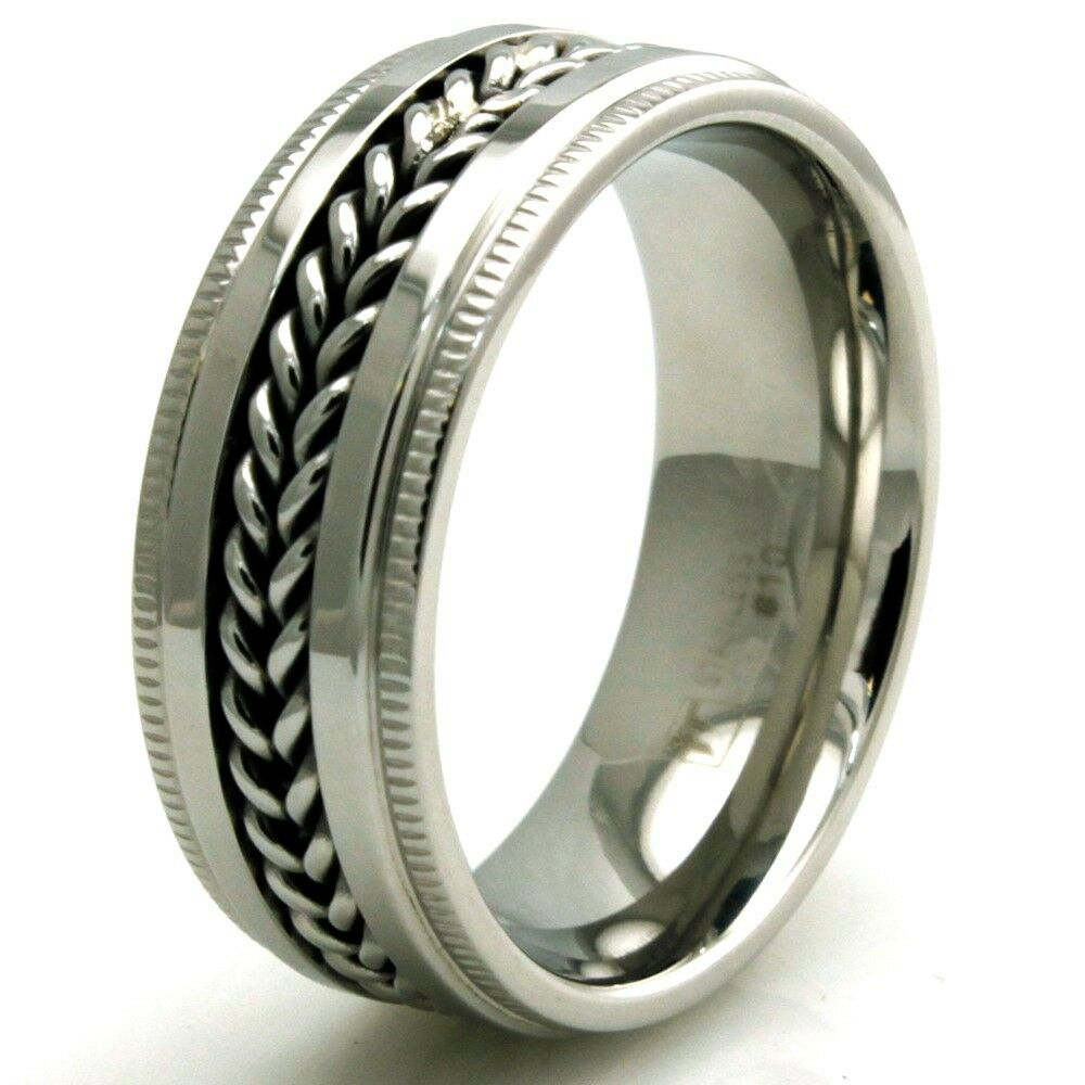 Men Silver Fashion Ring