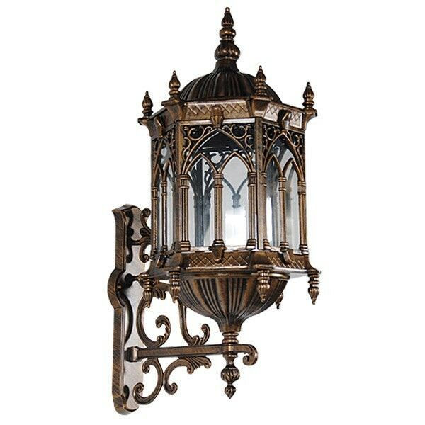 Gothic Wall Sconces: Wall Sconce Light Gothic Styled UL Listed Cast Aluminum