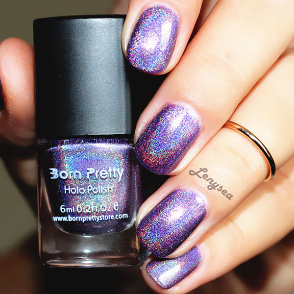 Black Nail Polish Ebay: 6ml Holographic Hologram Glitter Nail Polish Varnish Born
