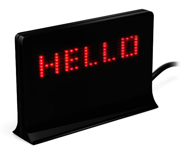 Usb programmable led sign scrolling message mini display for Office display board