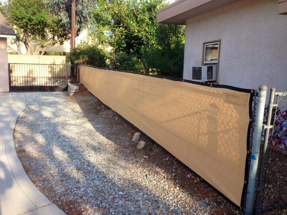 4ft x 50ft privacy screen mesh shade cloth w binding for 8 foot high outdoor privacy screen