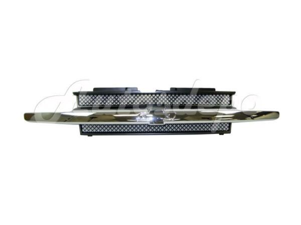 For 2002-2009 Chevy Trailblazer Grille Painted Dark Gray W/Chrome Molding