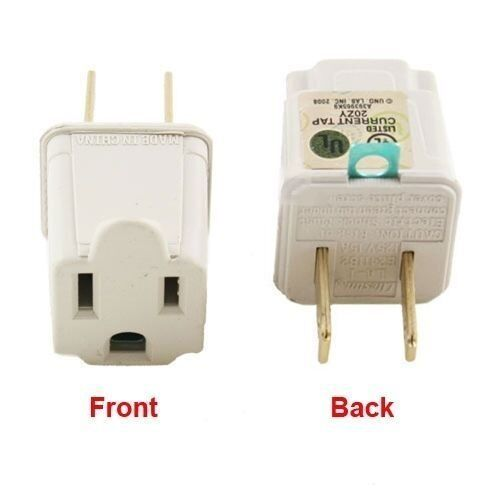 3 Prong To 2 Prong Outlet Electrical Ground Ac Adapter
