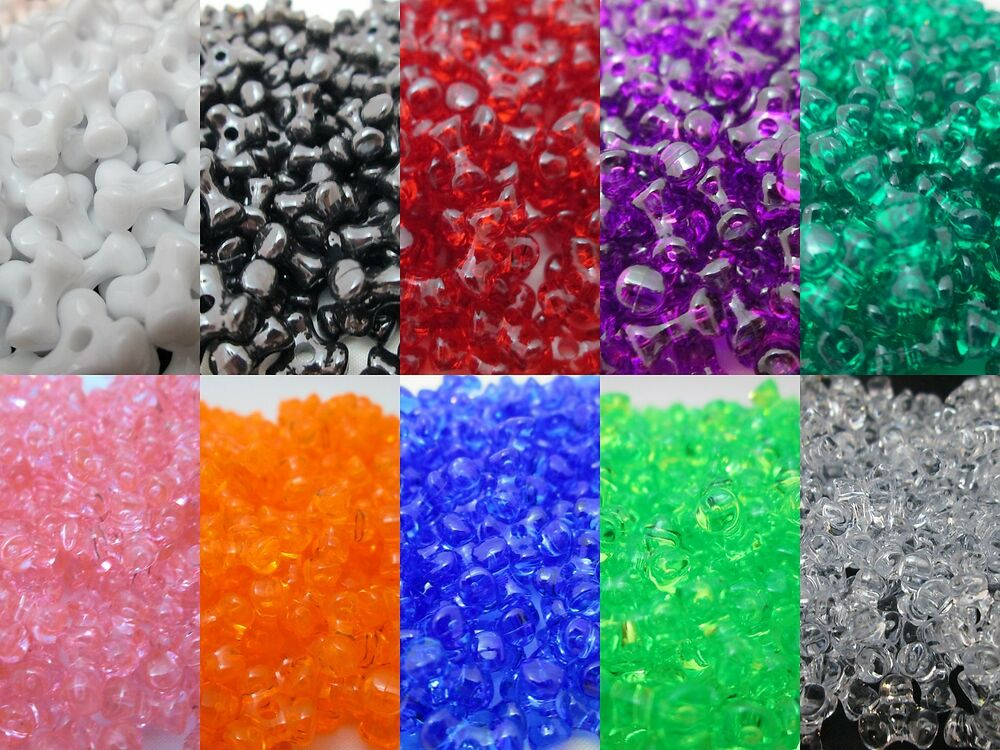 1000 11mm acrylic tri bead made in usa choice of color ebay