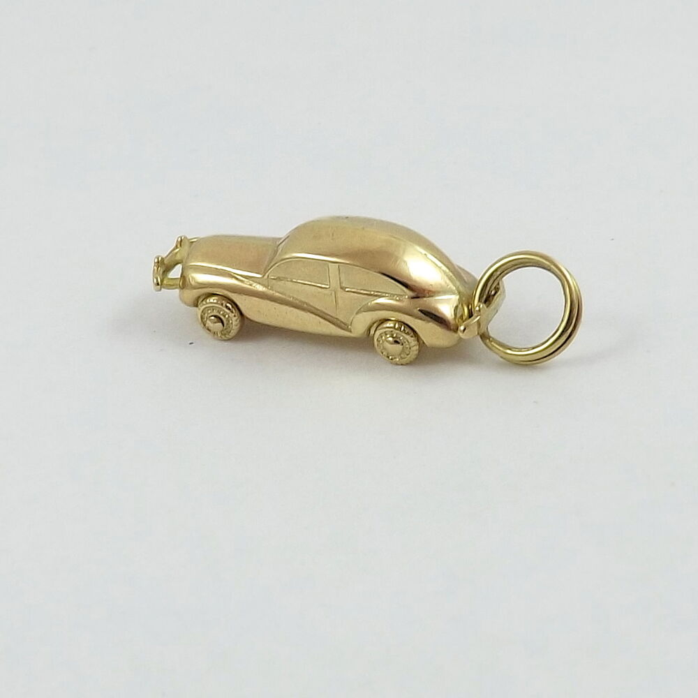 14k Gold 3d Vintage Luxury Rolls Royce Car Bentley Charm