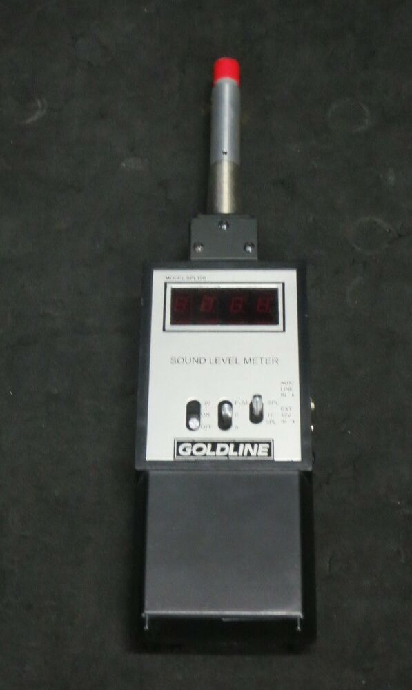 goldline spl120 sound level meter ebay. Black Bedroom Furniture Sets. Home Design Ideas