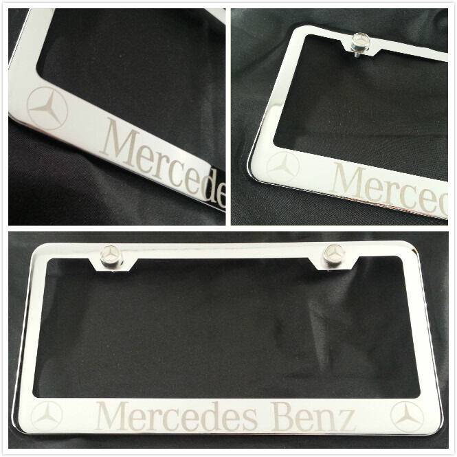 Laser engraved for mercedes benz chrome license plate for Mercedes benz plate