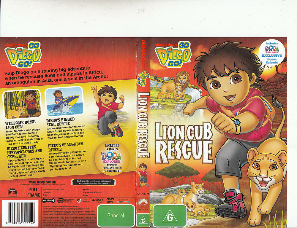 go diego go lion cub rescue 2005 tv series usa 4 episodes dvd ebay. Black Bedroom Furniture Sets. Home Design Ideas