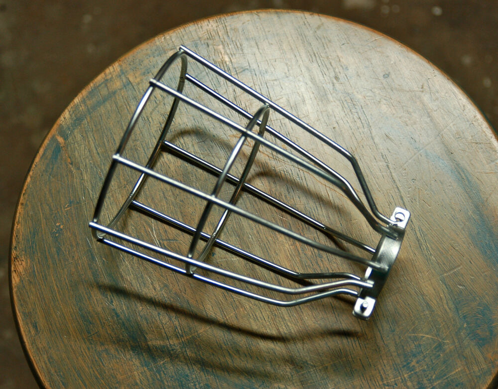Steel Bulb Guard Clamp On Metal Lamp Cage For Vintage