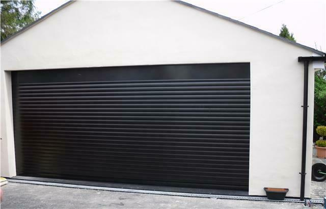 Black Electric Roller Shutter Garage Door Inc Full Box