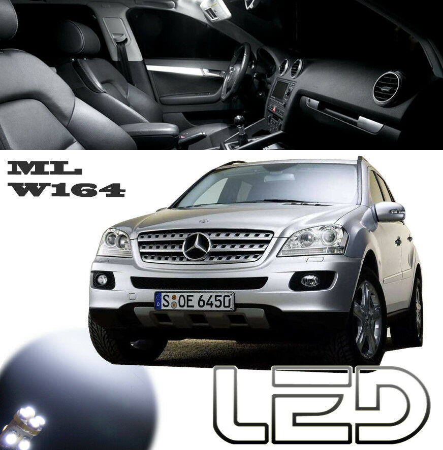 mercedes ml w164 pack 12 ampoules led blanc plafonnier habitacle sols tapis ebay. Black Bedroom Furniture Sets. Home Design Ideas