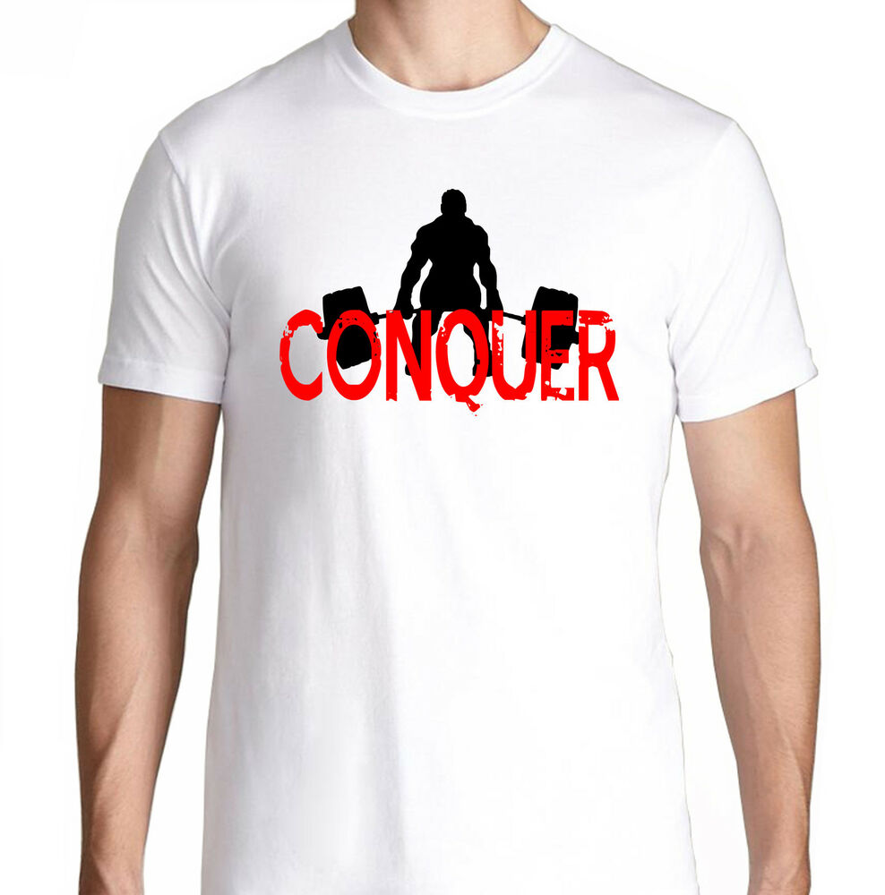 Conquer Body Bench Press Gym Funny Crossfit Health Running