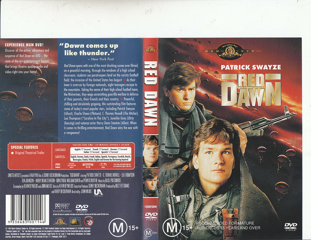 Red Dawn-1984-Patrick Swayze-Movie-DVD | eBay