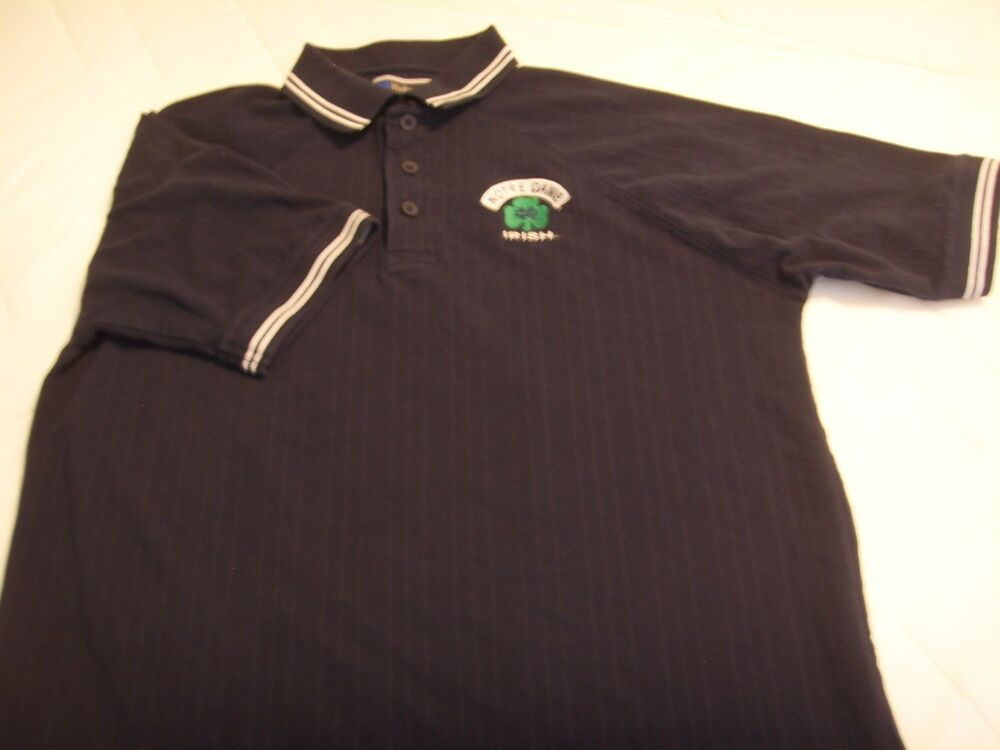 notre dame university shirt golf polo fighting irish ebay
