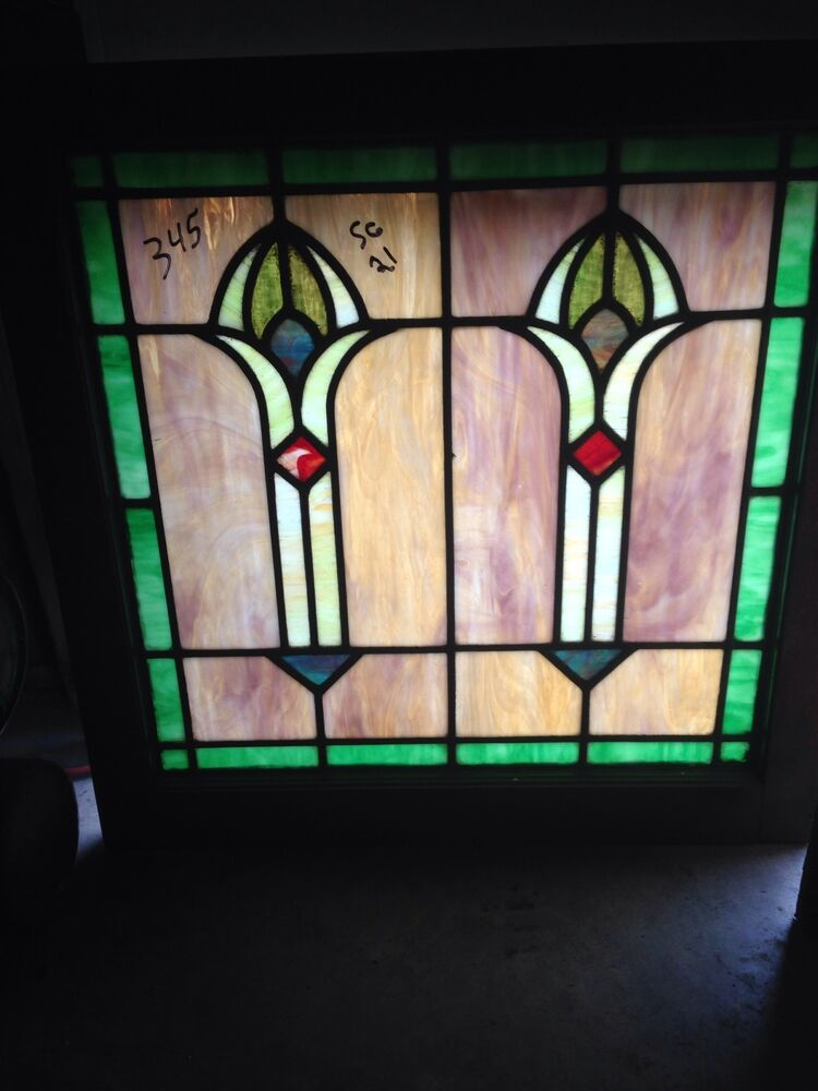 Antique 1920s arts and crafts antiques stainglass window for 1920s window