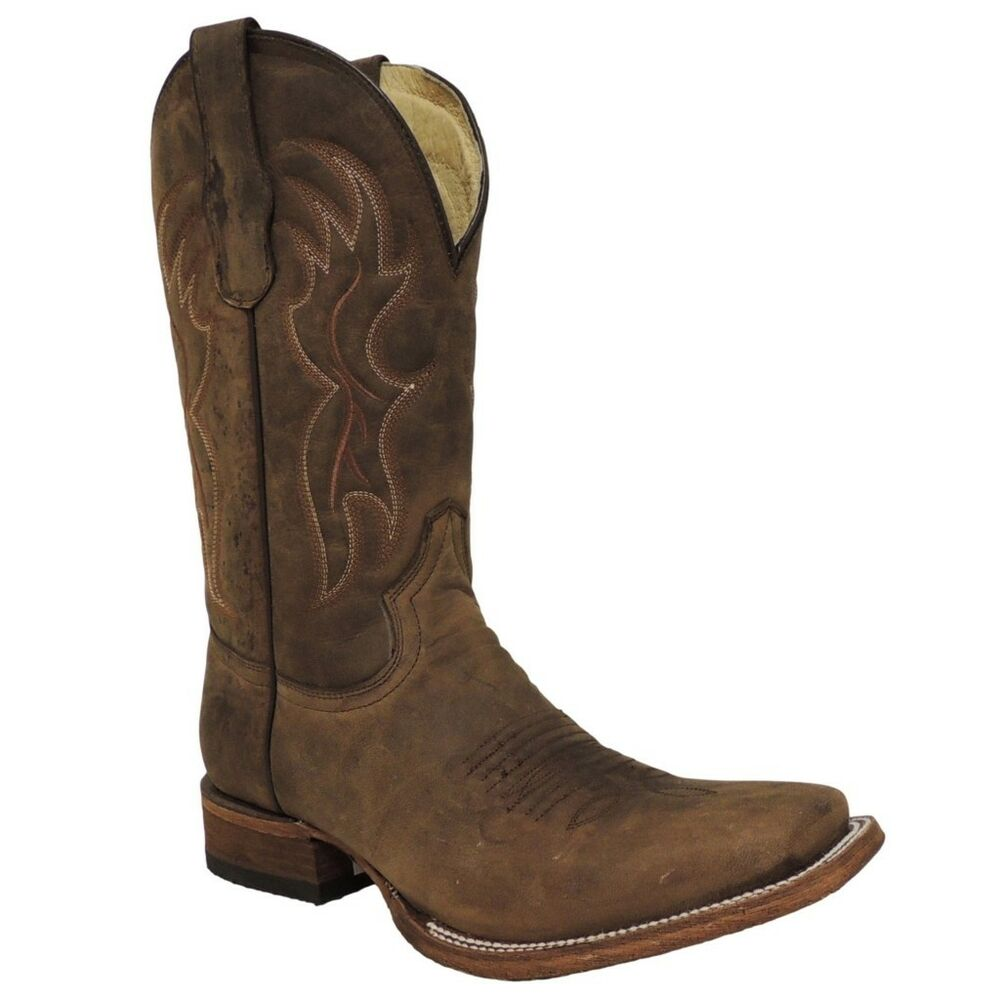 circle g by corral mens basic square toe boot l5091