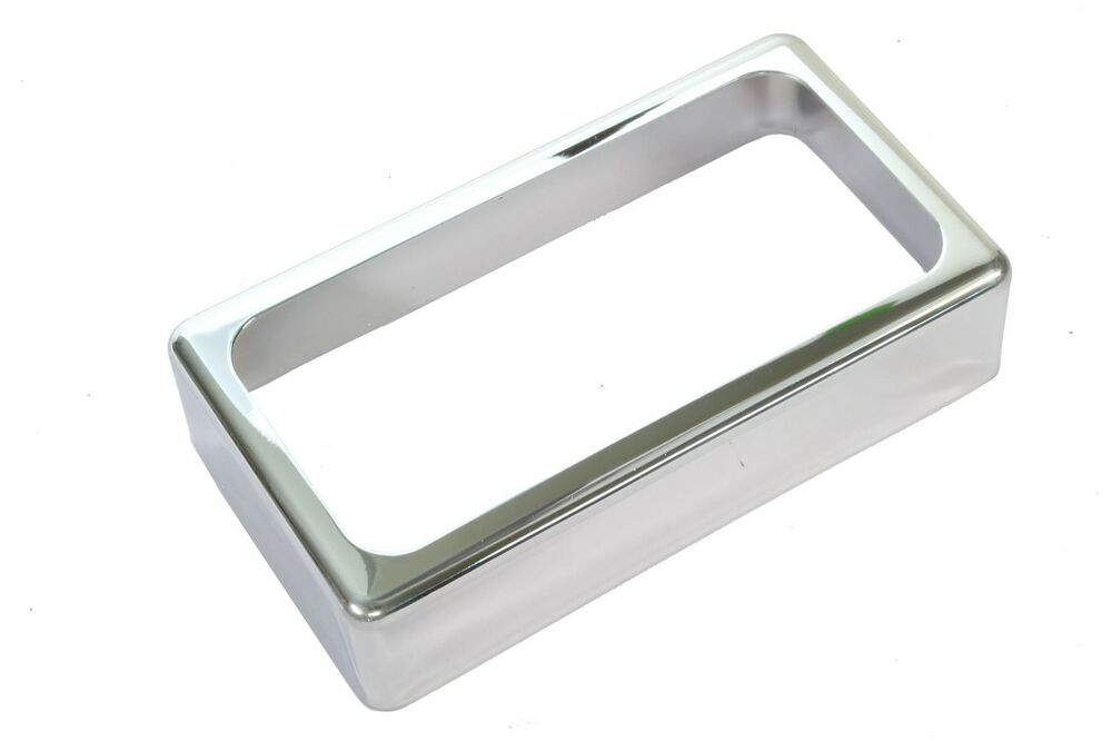 open humbucker pickup cover chrome ebay. Black Bedroom Furniture Sets. Home Design Ideas