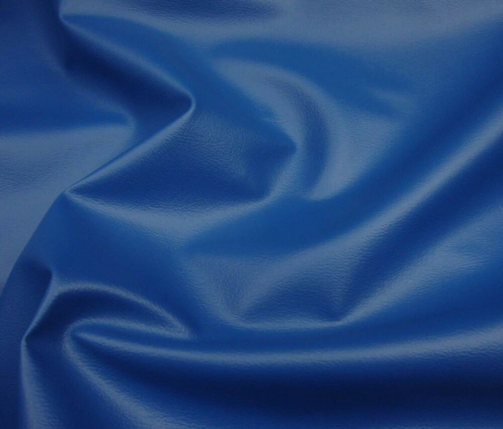 Upholstery Vinyl Faux Leather Fabric Royal Blue Contract
