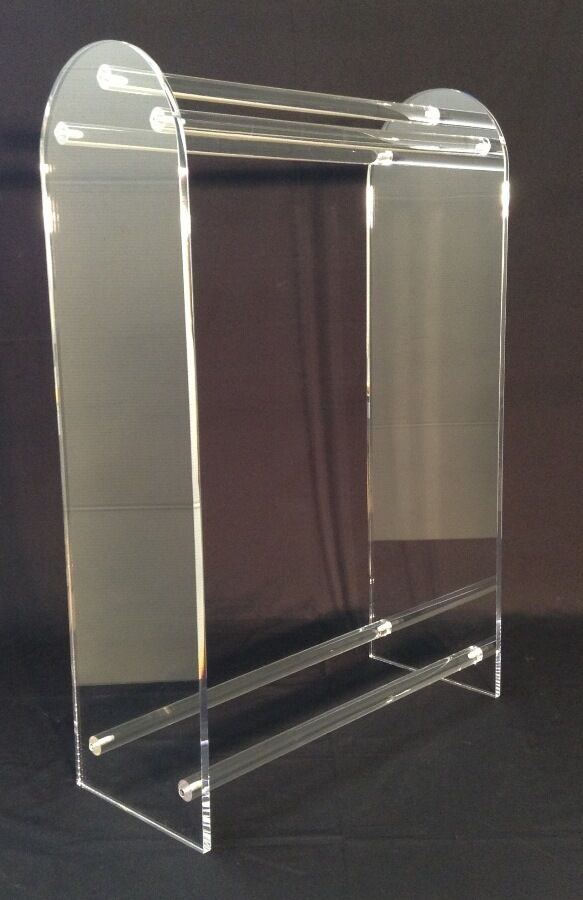 Clear Acrylic Large Free Standing Towel Rack Ebay