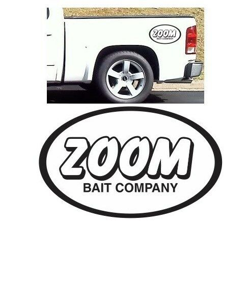 Zoom decal sticker fishing bait rod reel big large gear for Fishing boat decals