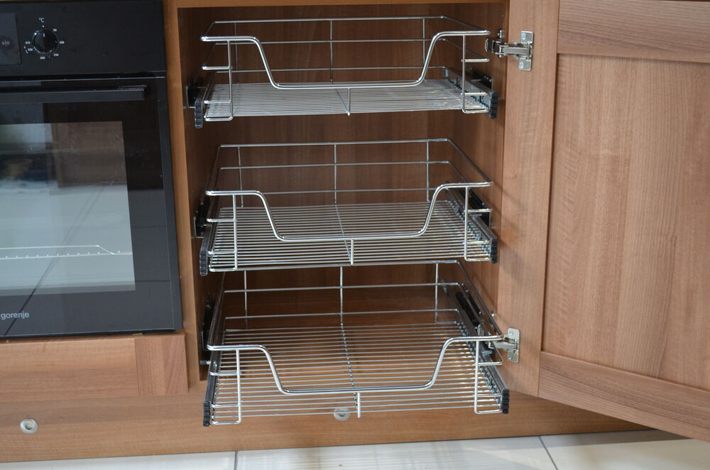 pull out wire baskets for kitchen larder cupboards 300mm