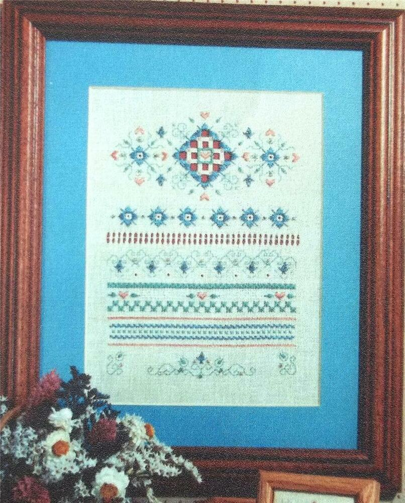 Traditional band sampler hardanger and counted cross