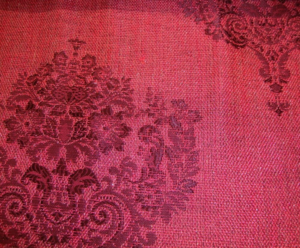 55 wide magenta damask metallic sparkle upholstery drapery fabric by the yard ebay. Black Bedroom Furniture Sets. Home Design Ideas