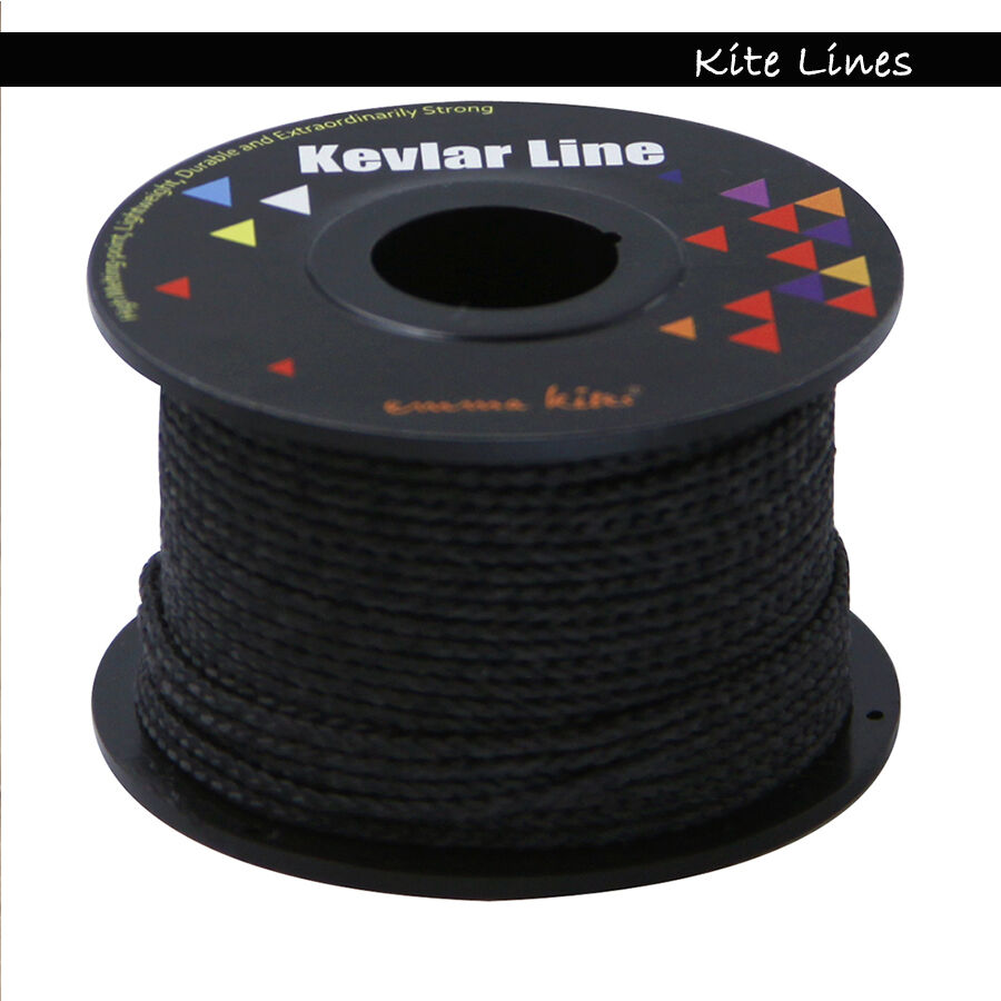 100ft 500lb black braided kevlar cord fishing line cut