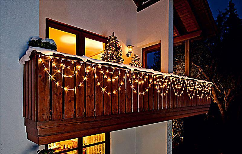 led lichterkette lichtervorhang bogen 160 leds au en balkon weihnachtsdeko deko ebay. Black Bedroom Furniture Sets. Home Design Ideas