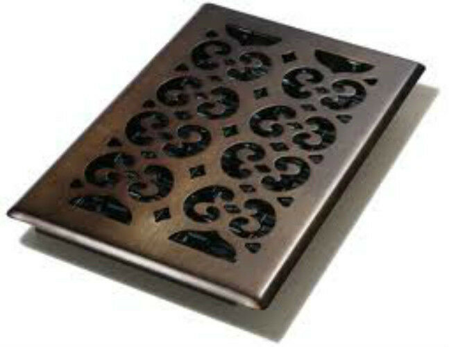Decor grates oil rubbed bronze 6 x 10 steel floor register for 10 x 10 floor register