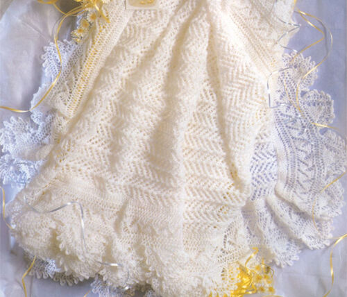 Knitting Pattern - Lacy Baby Shawl- Knitted in 2 ply- 50