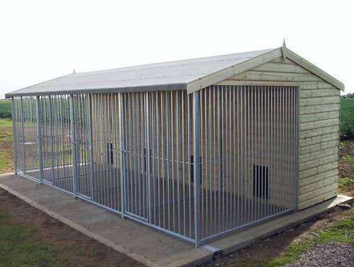 Kennel and run block multi bay kennel from 163 1350 2 bay ebay