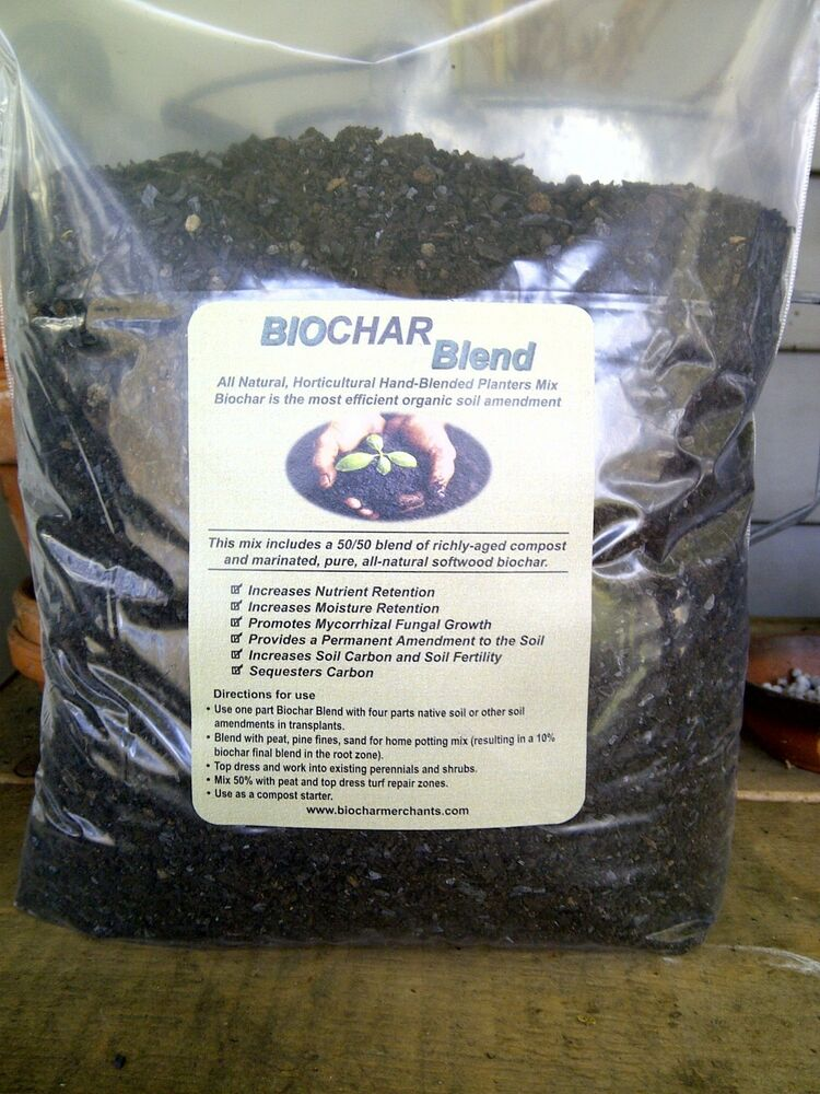 One gallon bag biochar blend biochar plus compost ebay for Compost soil bags